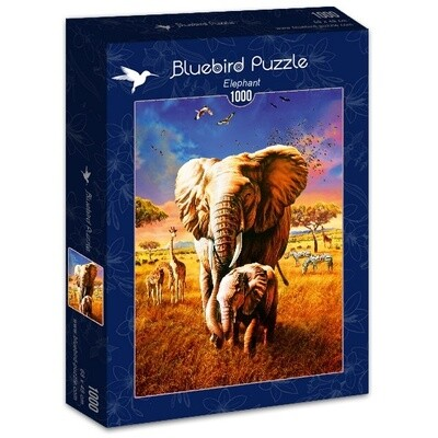 PUZZLE 1000 pcs - Elefante - BLUEBIRD