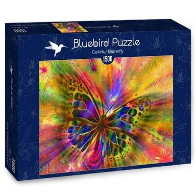 PUZZLE 1500 pcs - Borboleta Colorida - BLUEBIRD