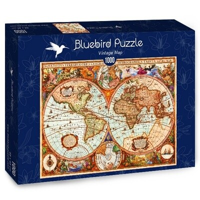 PUZZLE 1000 pcs - Vintage Map - BLUEBIRD