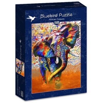 PUZZLE 1500 pcs - Cores de África - BLUEBIRD