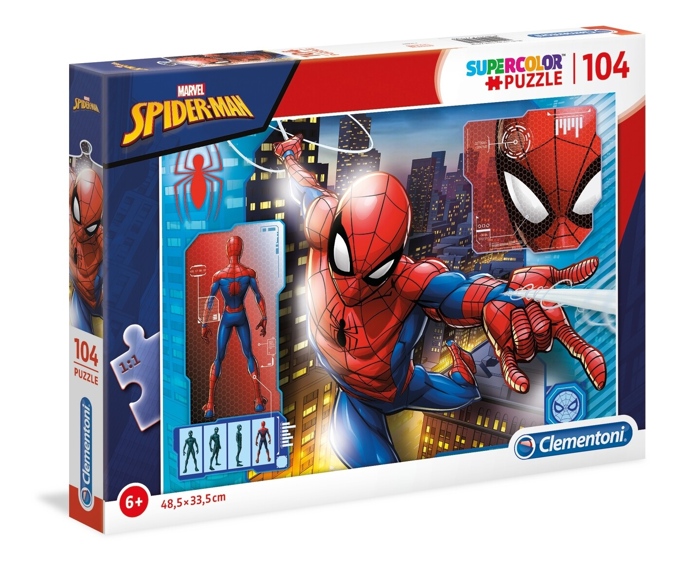PUZZLE Super 104pcs Spiderman - CLEMENTONI