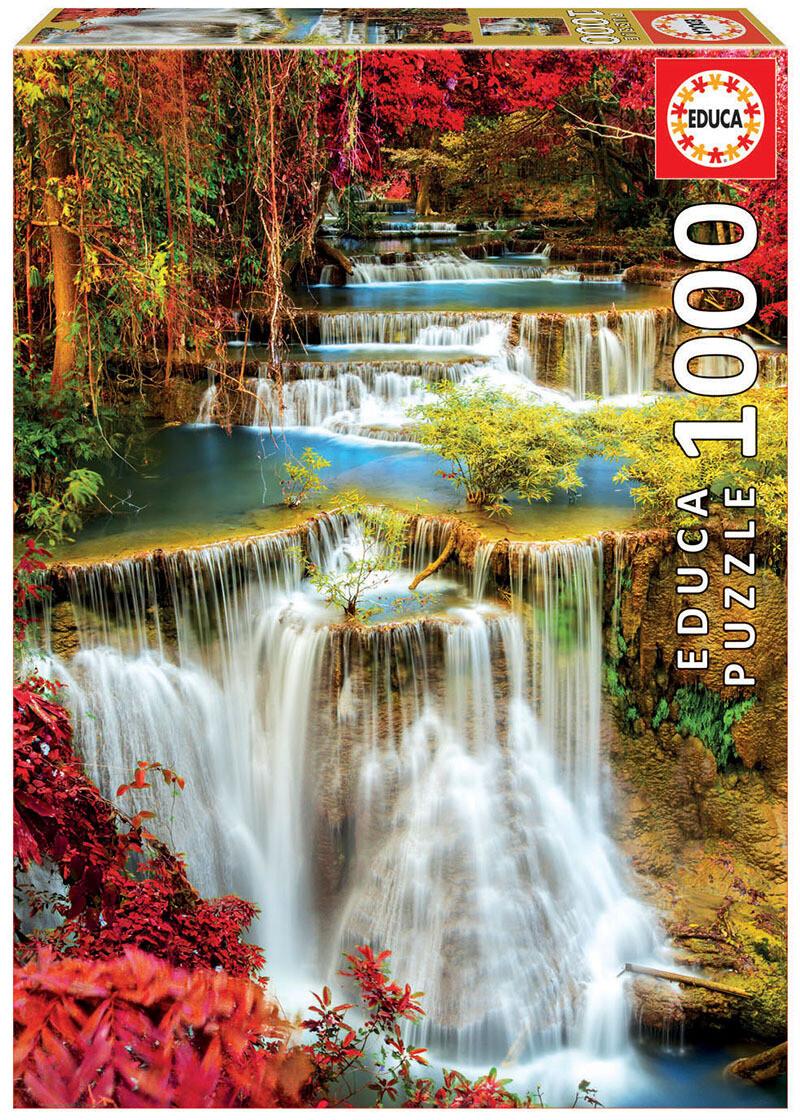 PUZZLE 1000 pcs Cascata no Bosque - EDUCA