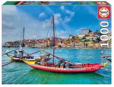PUZZLE 1000 pcs Barcos Rabelos - Porto - EDUCA