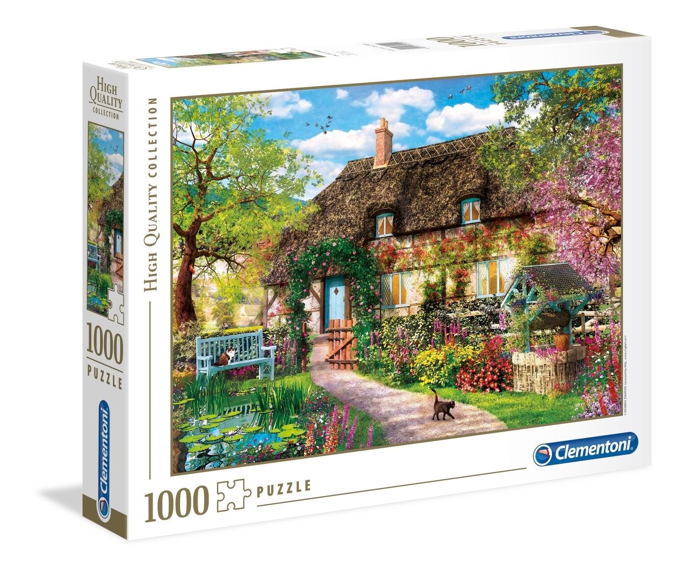 PUZZLE 1000 HQ  - Old Cottage - CLEMENTONI