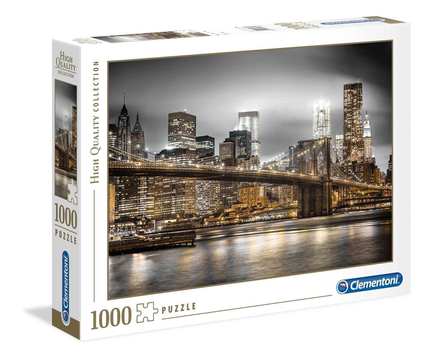 PUZZLE 1000 HQ New York Skyline - CLEMENTONI