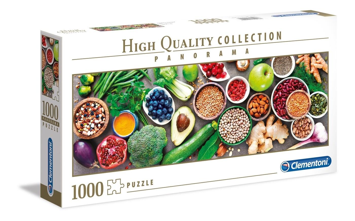 PUZZLE 1000 HQ Panorama - Healthy Veggie - CLEMENTONI