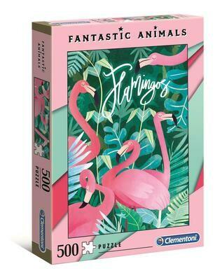 PUZZLE 500 Fantastic Animals - Flamingo - CLEMENTONI