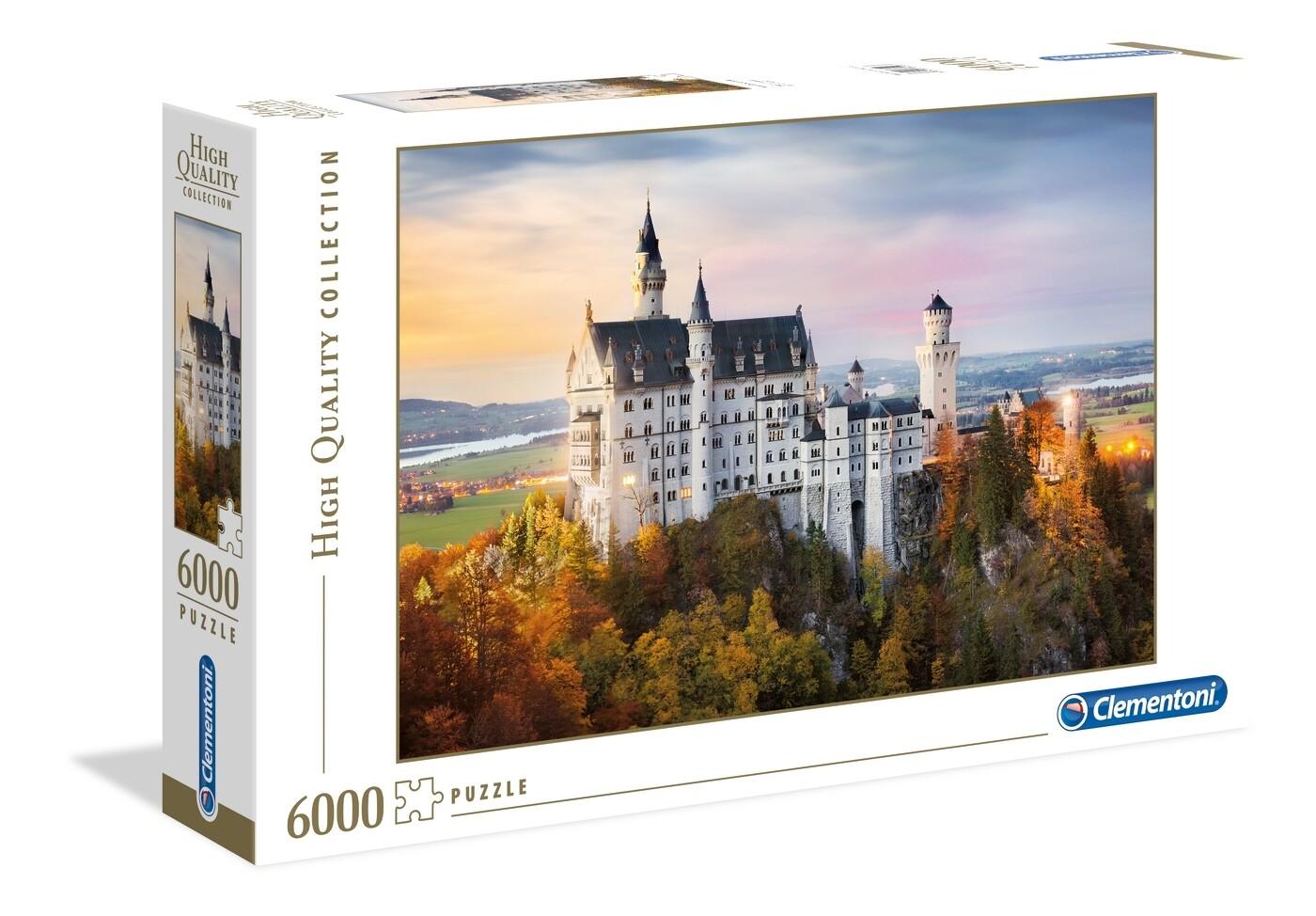 PUZZLE 6000 HQ Neuschwanstein Castle  - CLEMENTONI