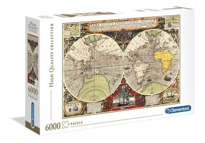 PUZZLE 6000 HQ Mapa Náutico Antigo  - CLEMENTONI