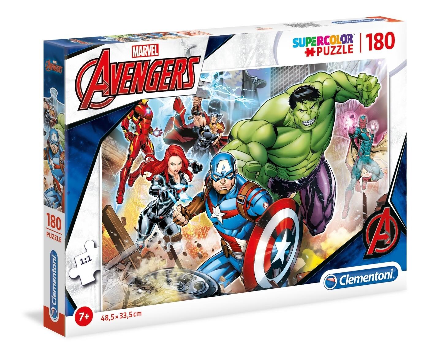 PUZZLE Super 180 pcs Avengers - CLEMENTONI