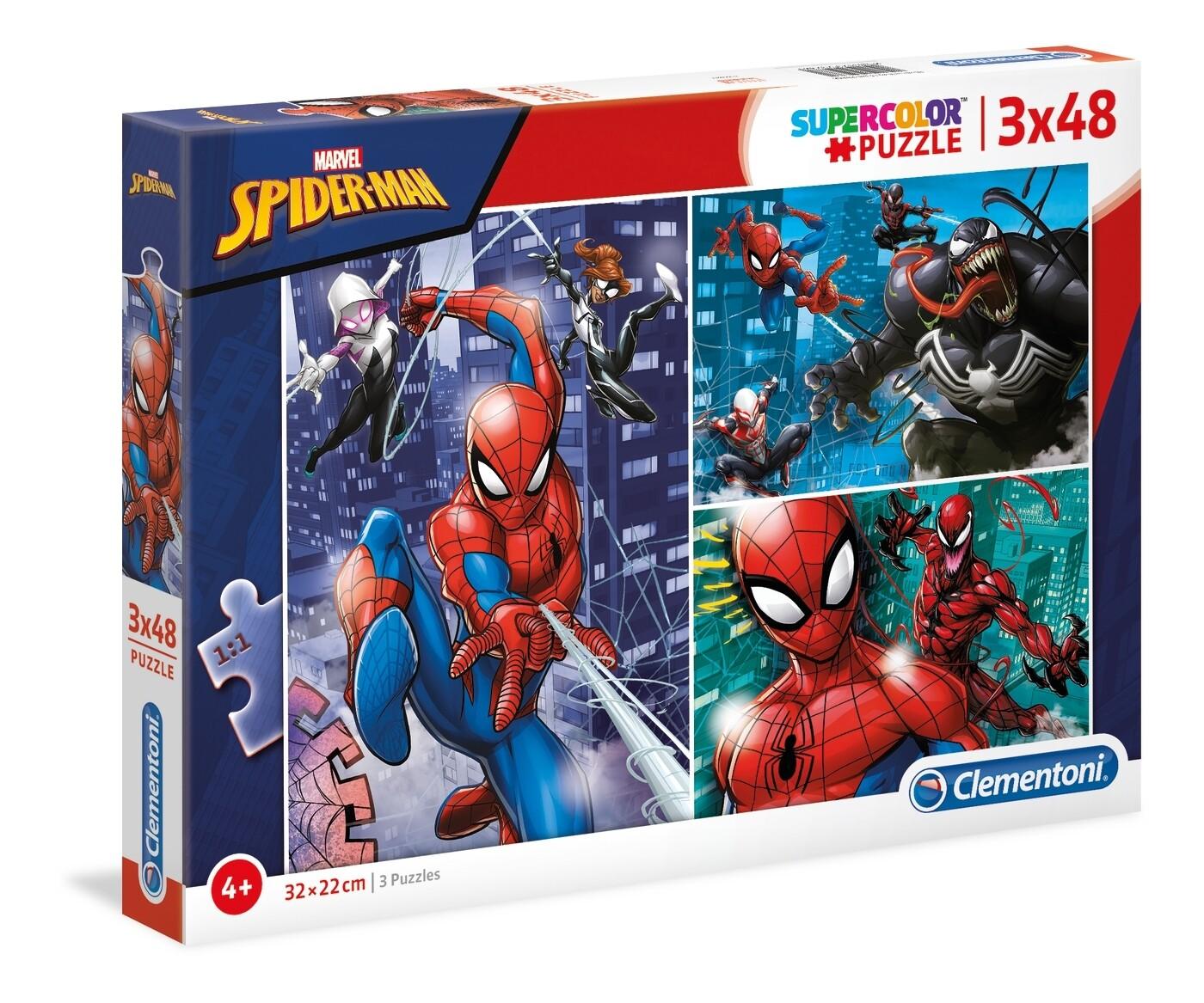 PUZZLE Spiderman 3x48pcs - CLEMENTONI