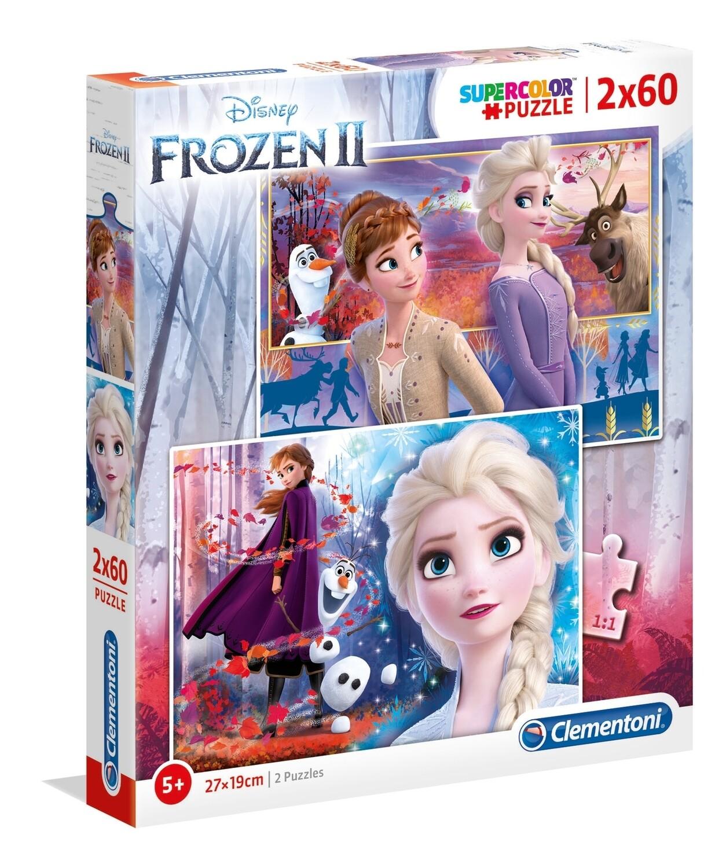 PUZZLE Super 2x60 pcs Frozen II - Disney - CLEMENTONI