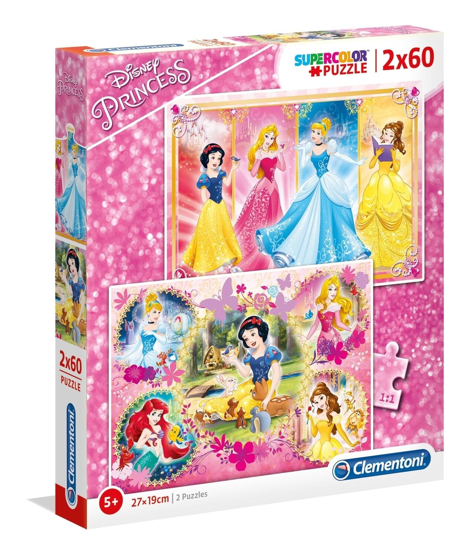PUZZLE Super 2x60 pcs Princesas - Disney - CLEMENTONI