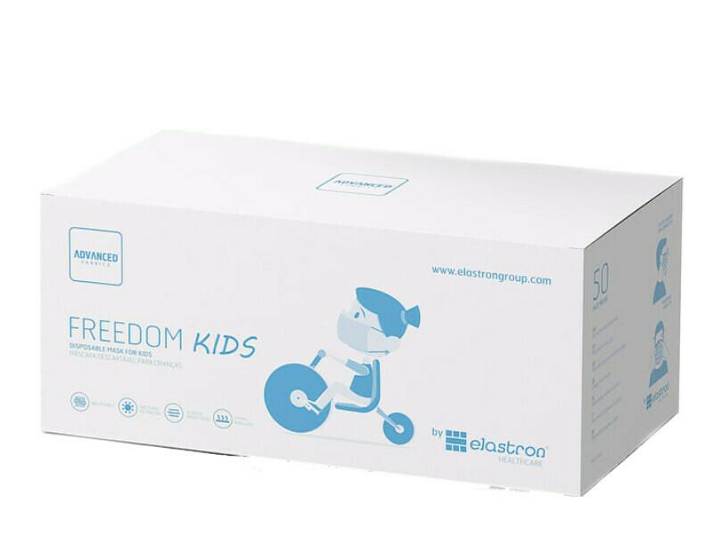 Máscaras Criança Coloridas - Cx 50 unidades - descartáveis