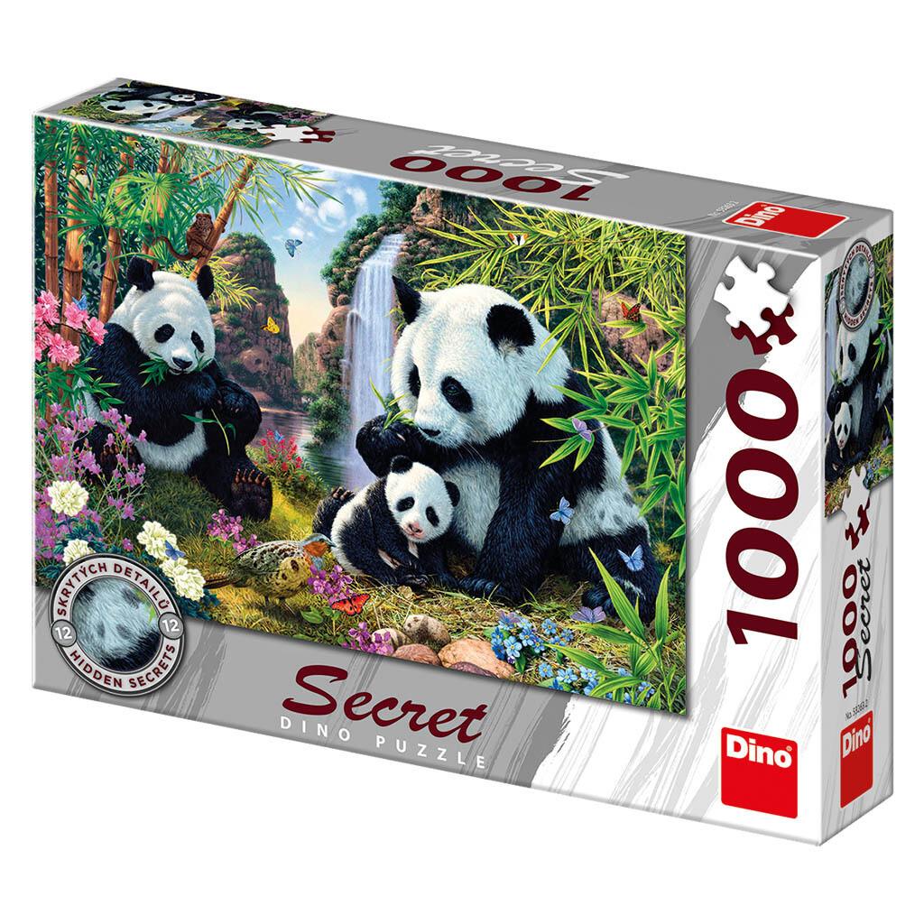 PUZZLE 1000 pcs - Pandas - SECRET Colection - DINO