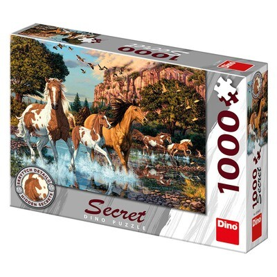 PUZZLE 1000 pcs - Cavalos - SECRET Colection - DINO