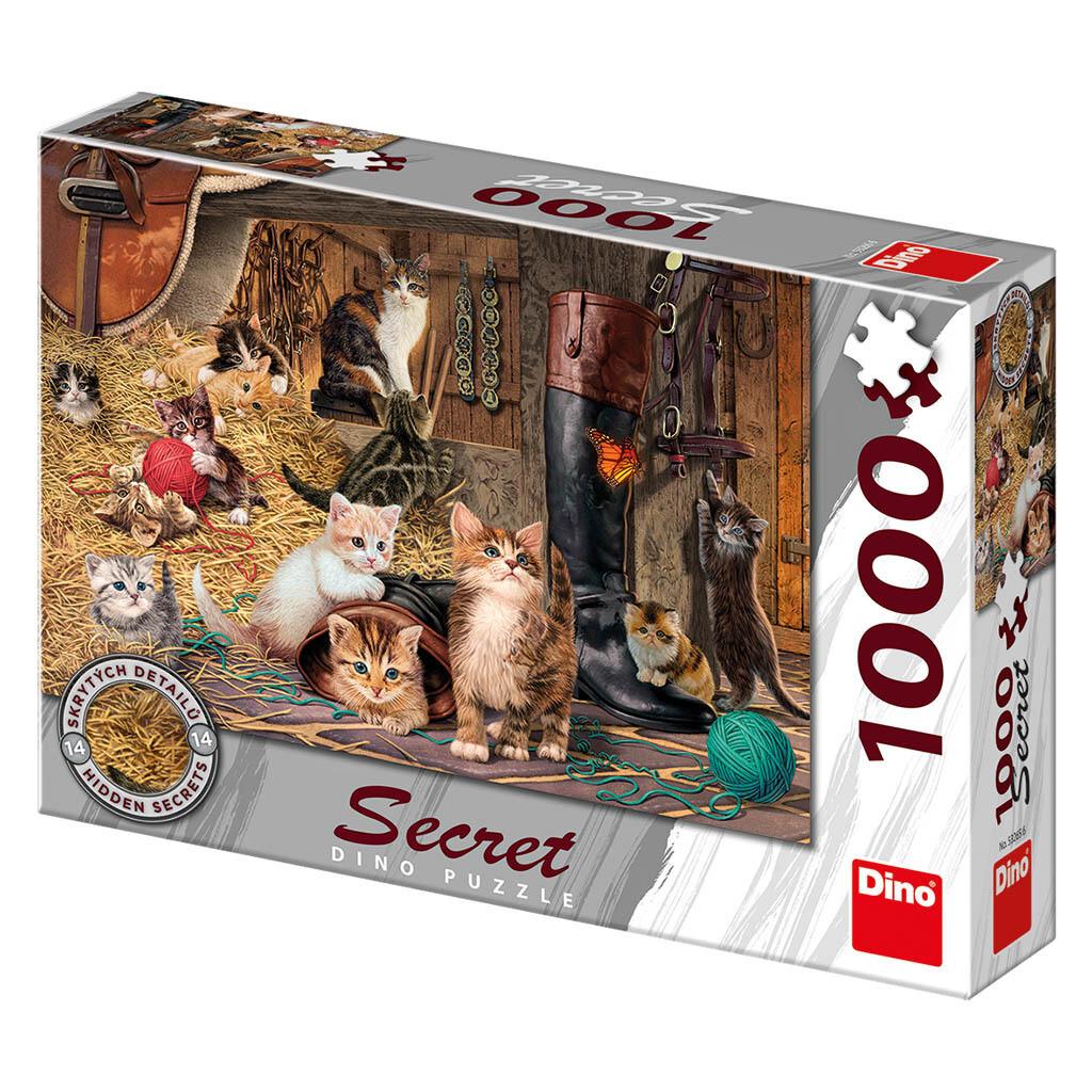 PUZZLE 1000 pcs - Gatos - SECRET Colection - DINO
