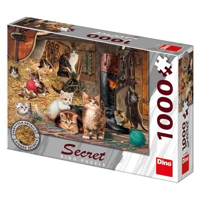 PUZZLE 1000 pcs - Gatos - SECRET Colection - DINO