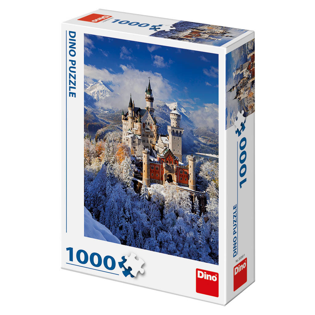 PUZZLE 1000 pcs - Winter Neuschwanstein - DINO