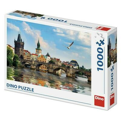 PUZZLE 1000 pcs - Charles Bridge - Praga - DINO