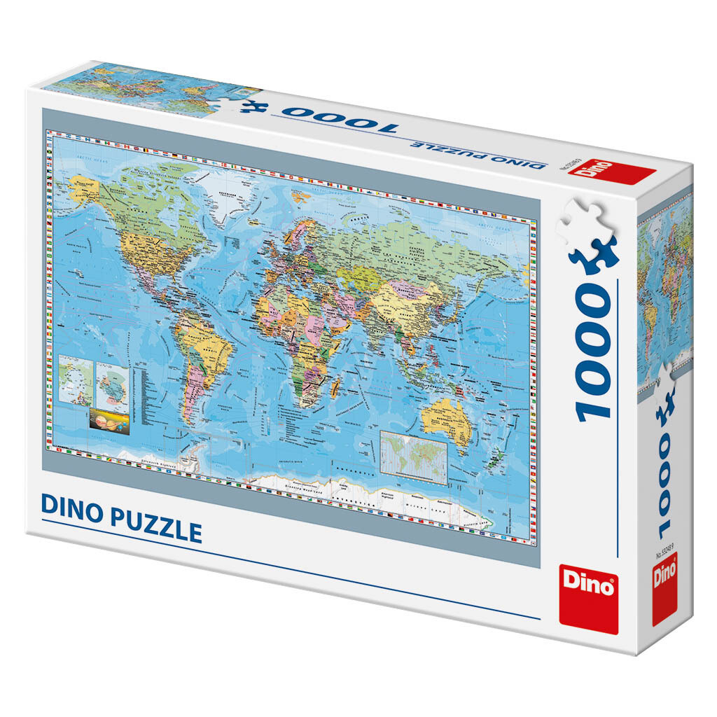 PUZZLE 1000 pcs - World Political Map - DINO
