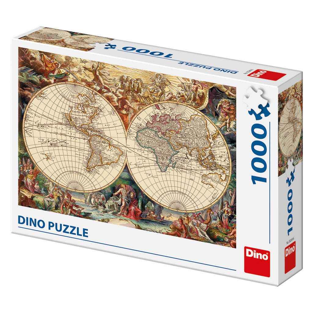 PUZZLE 1000 pcs - World Historical Map - DINO