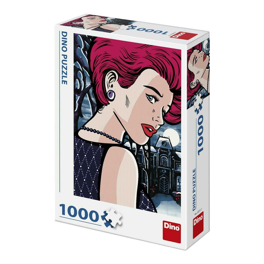 PUZZLE 1000 pcs - Pop Art - Mysterious Woman - DINO
