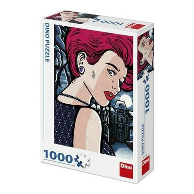 PUZZLE 1000 pcs - Pop Art - Mysterious Woman - DINO