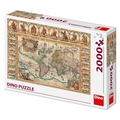PUZZLE 2000 pcs - World Historical Map - DINO
