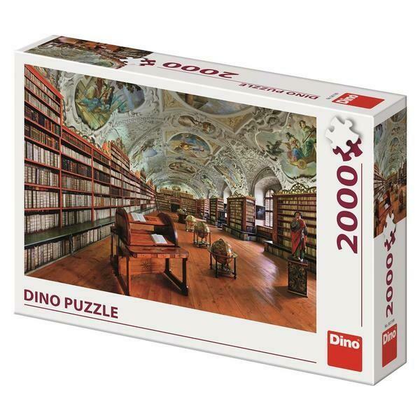 PUZZLE 2000 pcs - Mosteiro de Strahov - DINO