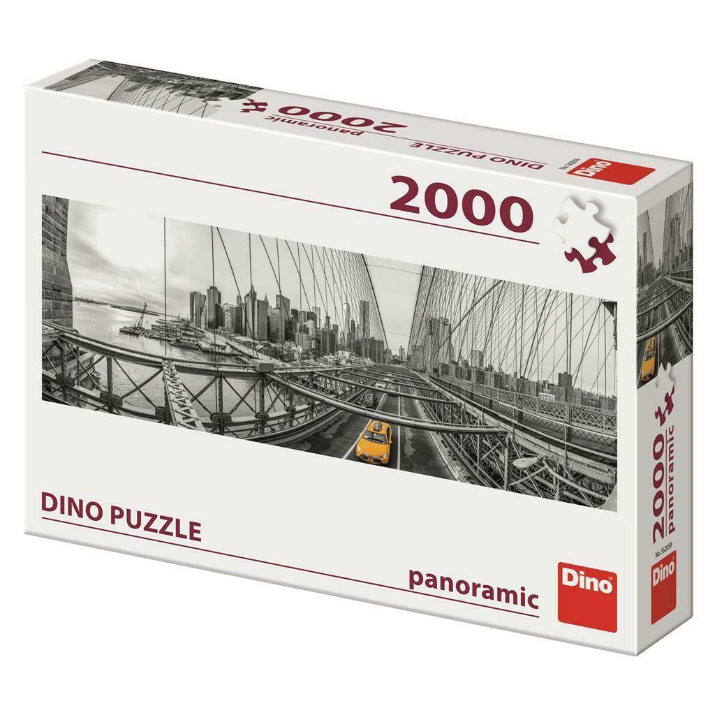 PUZZLE 2000 pcs - Brooklyn Bridge -New York - Panoramic - DINO