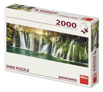 PUZZLE 2000 pcs - Cascatas Plitvice - Panoramic - DINO