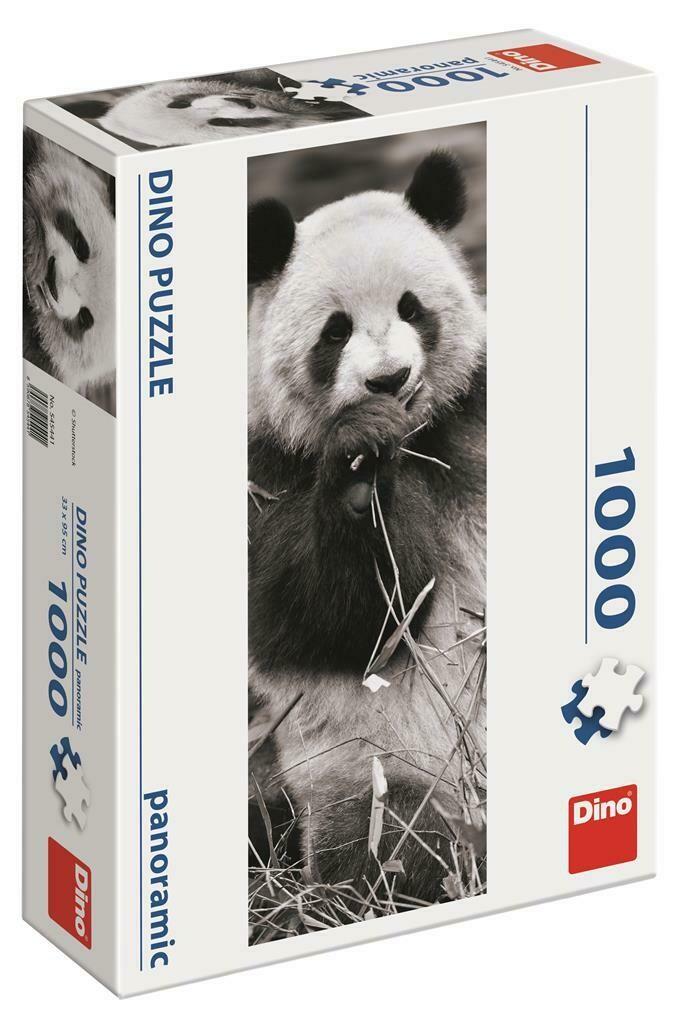 PUZZLE 1000 pcs - Panda - Panoramic - DINO