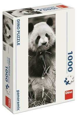 PUZZLE 1000 pcs - Panda - Panoramic - DINO