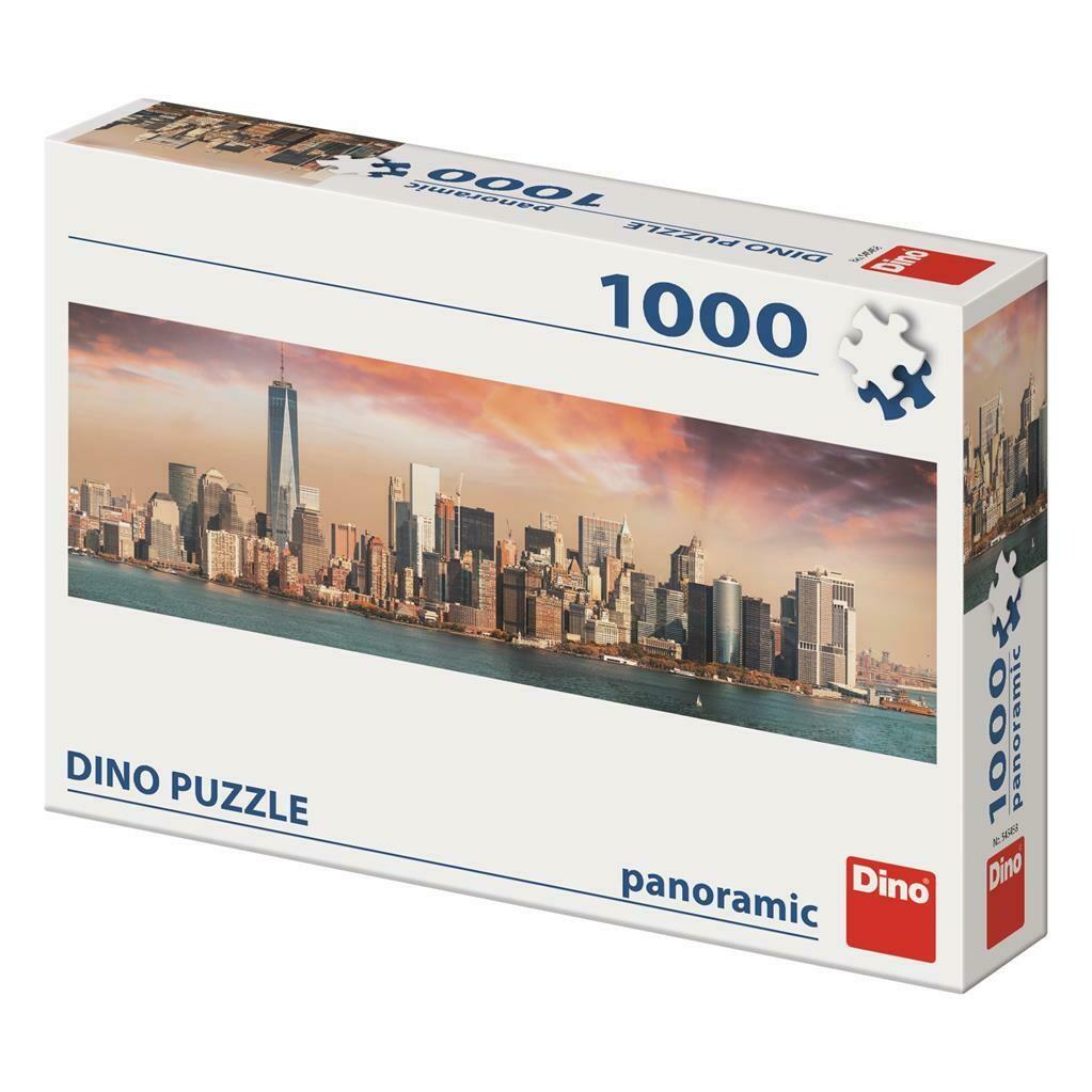 PUZZLE 1000 pcs - Vistas de Manhattan - Entardecer - Panoramic - DINO