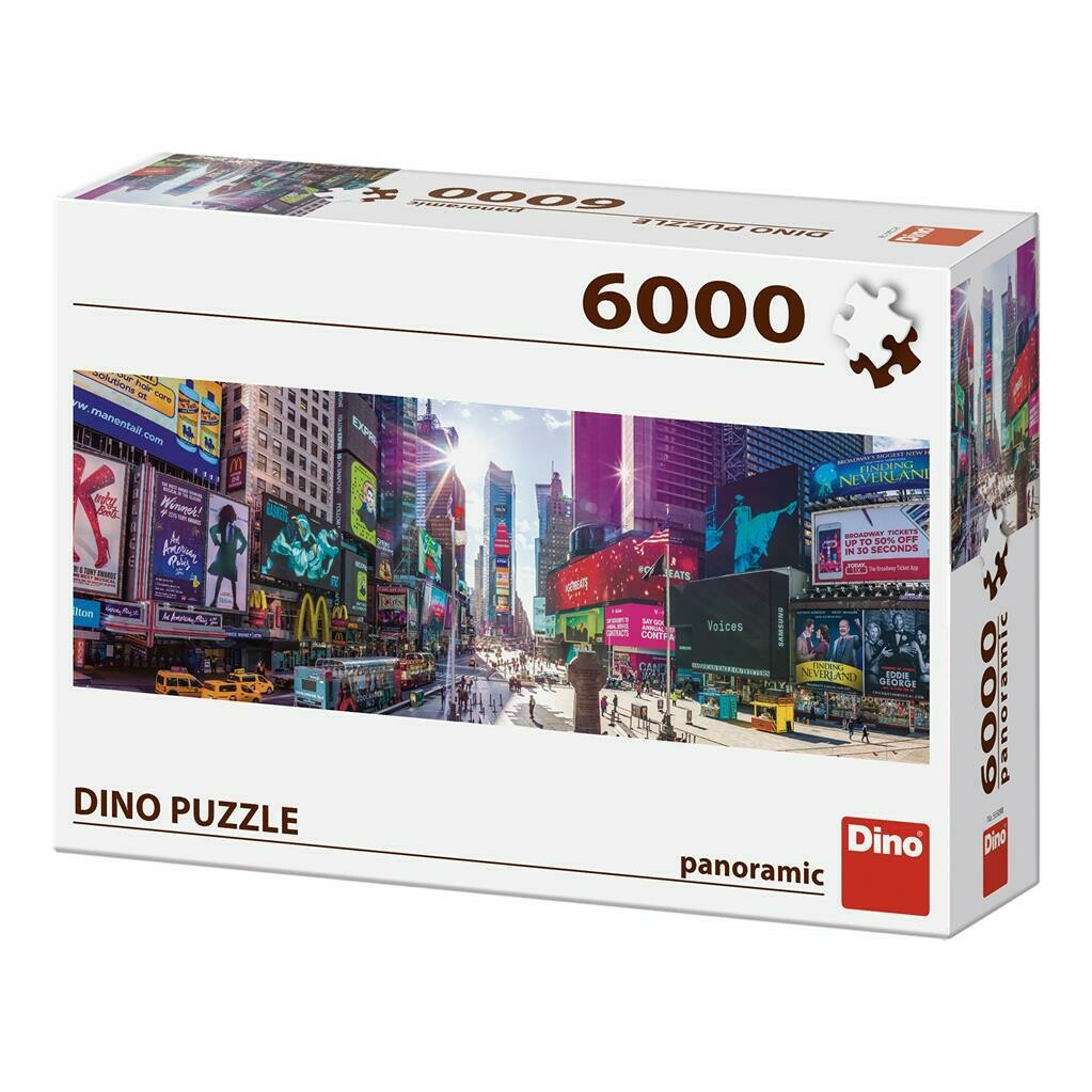 PUZZLE 6000 pcs - Times Square - Panoramic - DINO