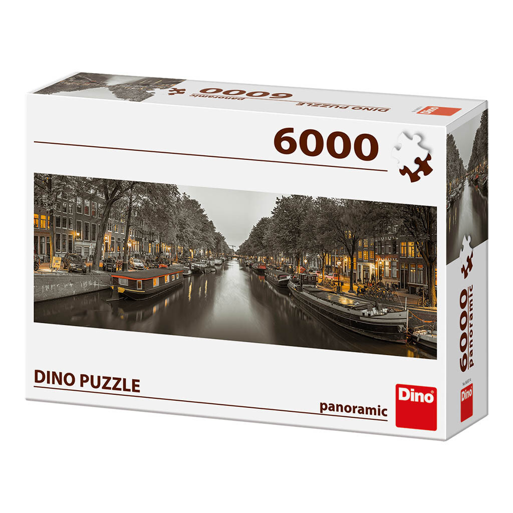 PUZZLE 6000 pcs - Amesterdam - Panoramic - DINO