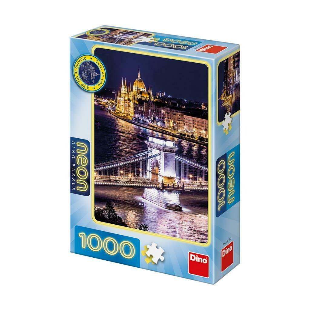 PUZZLE 1000 pcs - Budapeste - Neon - DINO