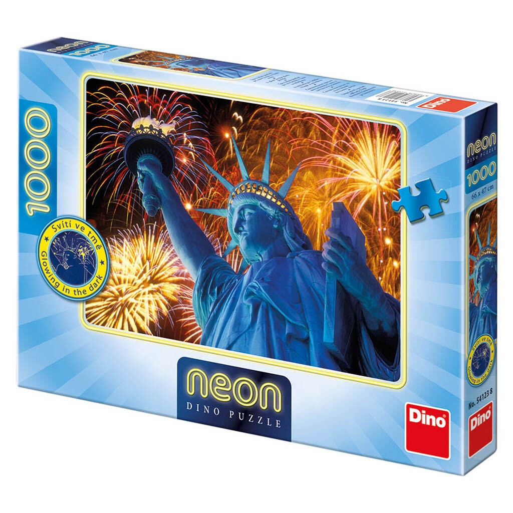 PUZZLE 1000 pcs - Statue of Liberty - Neon - DINO