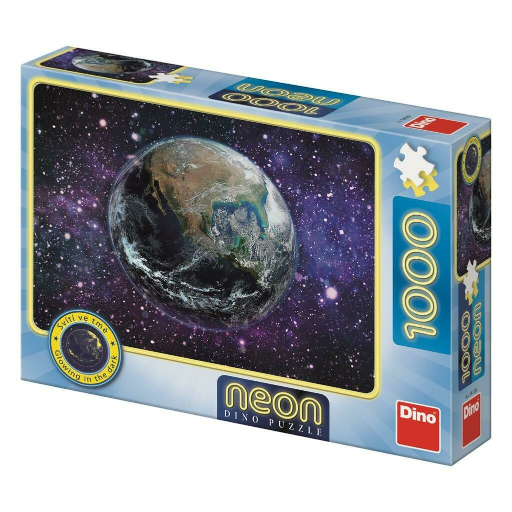 PUZZLE 1000 pcs - Planeta Terra - Neon - DINO