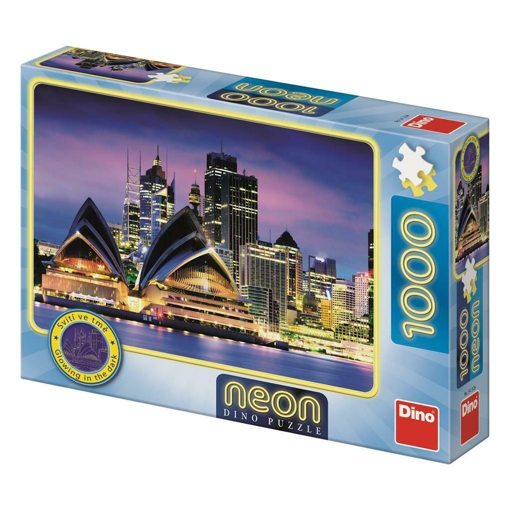 PUZZLE 1000 pcs - Opera de Sidney - Neon - DINO