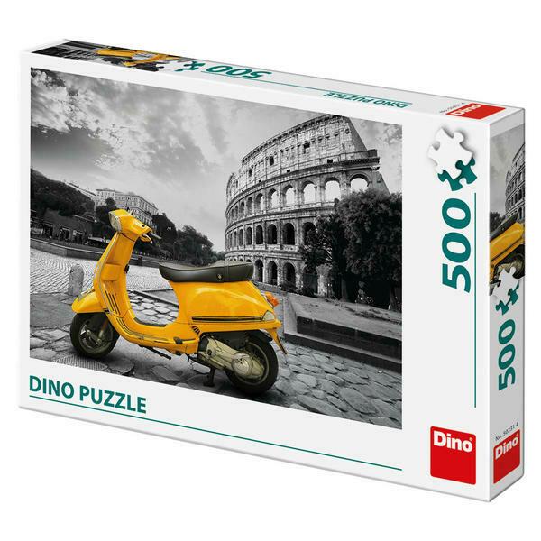 PUZZLE 500 pcs - Vespa no Coliseu - DINO