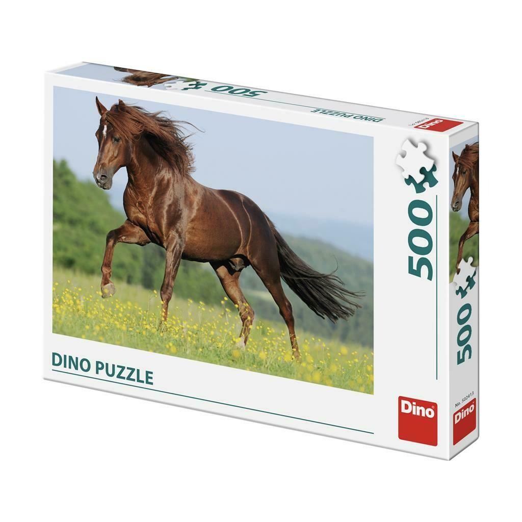 PUZZLE 500 pcs - Cavalo no prado - DINO