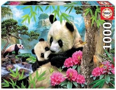 PUZZLE 1000 pcs Ursos Panda - EDUCA