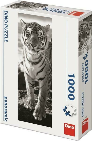 PUZZLE 1000 pcs - Tigre - Panoramic - DINO