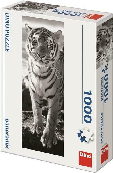 PUZZLE 1000 pcs - Tigre - Panoramic - DINO
