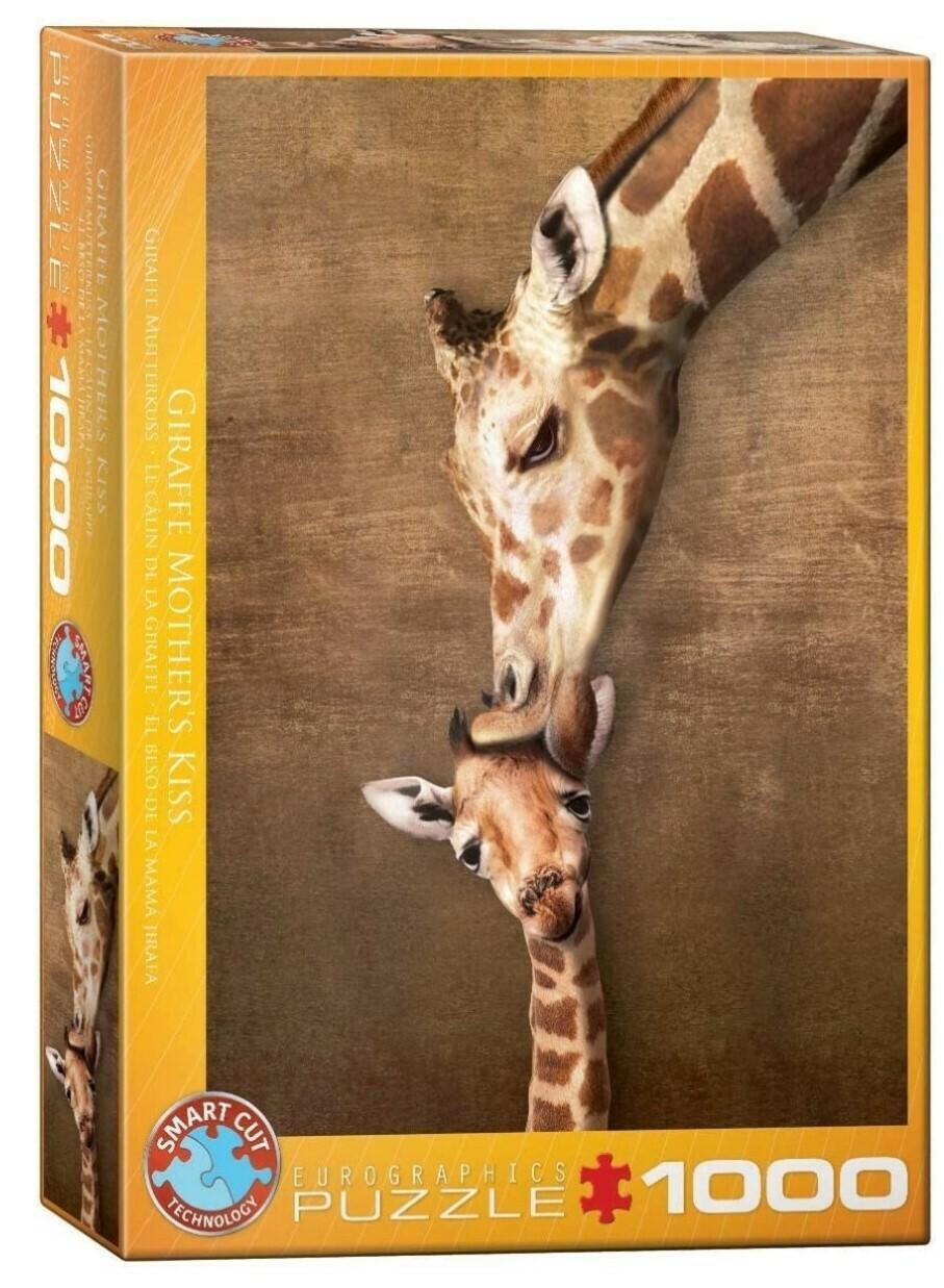 PUZZLE 1000 pcs Beijo da Mãe Girafa - Eurographics