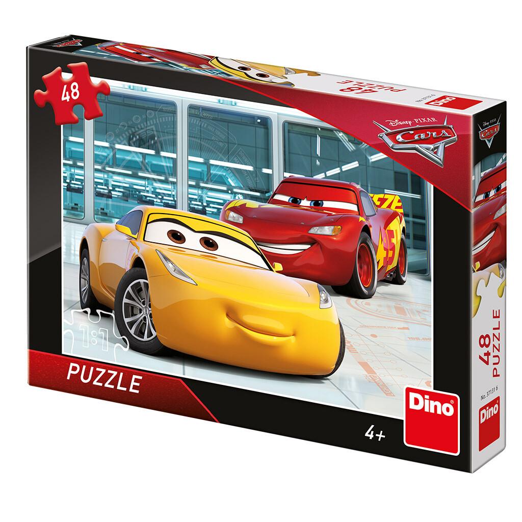 PUZZLE 48 pcs - Cars 3 - Garagem Treino - Disney - DINO