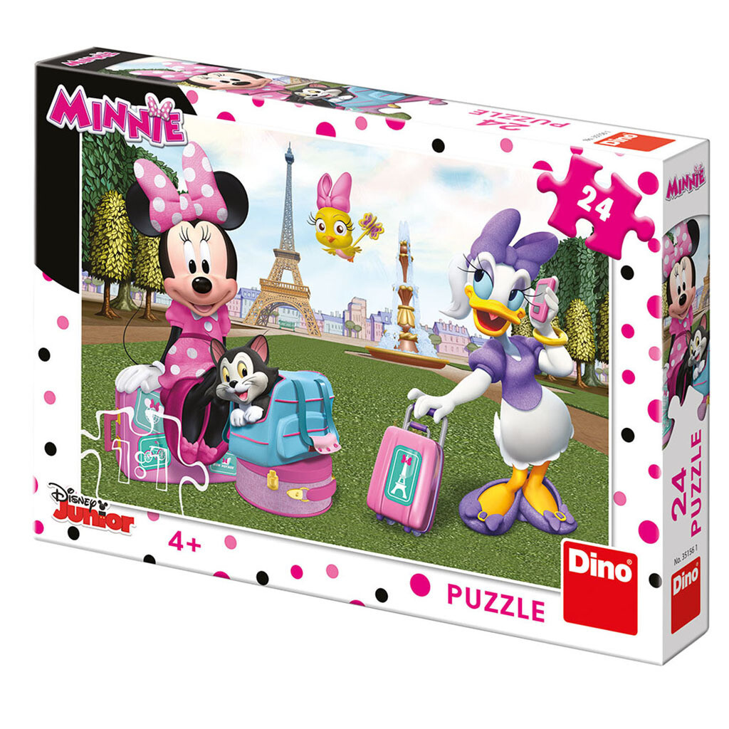 PUZZLE 24 pcs - Minnie e Margarida em Paris - Disney Junior - DINO