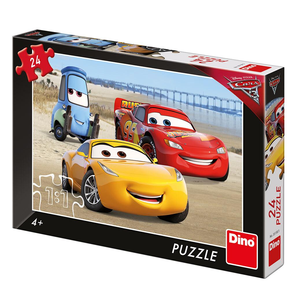 PUZZLE 24 pcs - Cars 3 na praia - Disney - DINO